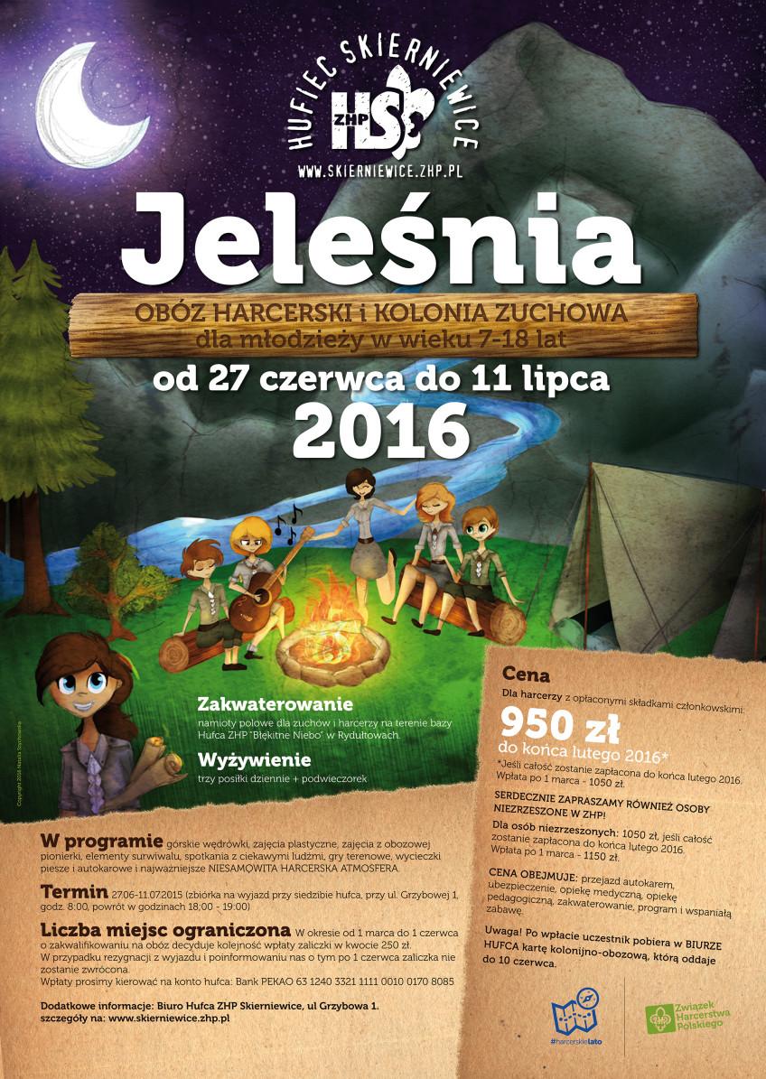 Obóz Hufca – Jeleśnia 2016