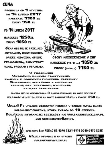 Obóz Hufca – Winiec 2017